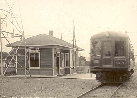 Interurban Station and Train at Shelbyville